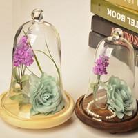 Wholesale Glass Cloche Inches Hnadmade Decorative Transparent Vase Office Desk Decor Christmas ornaments flower pots Decorations E447L