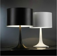 No aluminum table lamps - Italy Flos Table lamp By Sebastian Modern Spun aluminum alloy desk lamp AC V V Black White