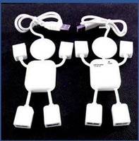 Wholesale White color USB HUB splitter humanoid villain delayed four expansion port hub Robot USB USB Hub Splitter Adapter
