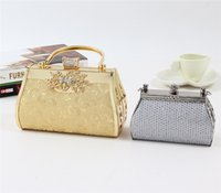 flower handbags - Luxury Rhinestone Evening Clutch Bags Alloy Material Party Prom Totes Flower Decoration Designer chain Handbags On Sale