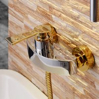 Wholesale Luxury Wall Mounted Bathroom Shower Mixer Faucet Taps in with Sliding Bar