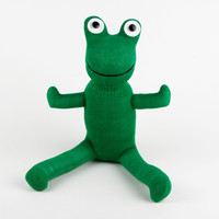 Aquatic Animals aquatic frogs - handmade baby toy sock monkey frog stuffed animal doll