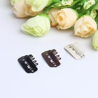 Wholesale 2 cm U type clips hair extensions accessories manganese steel clips high quality durable snap clips for hair extension