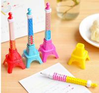 Wholesale 12 x Korea Creative Stationery Stereo Tower Shape Gel Ink Pen Lovely Eiffel Tower Style SJ24
