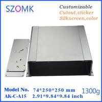 aluminum extrusion equipment - 6 grey szomk aluminum extrusion amplifier wall enclosure project box mm aluminum equipment shell enclosure AK C A15