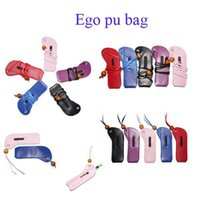 Wholesale Ego pu bag Ego pu pounch Necklace Bending PU Leather Lanyard Carrying Pouch Pocket Neck Sling Rope Bending Corner Case Bag Various Color