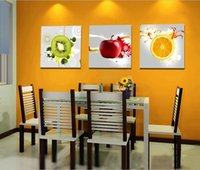 Wholesale 3 Panels Wall Art Kitchen Decorative Fruit Painting Printed Modern Canvas Prints Picture For Living Dinning Room Decor No Frame