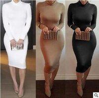 american apparel turtleneck - Bodycon Dress Vestidos Fashion American Apparel Club Dresses Sexy Turtleneck Dress Club Wear Women Party Dresses