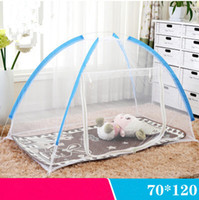 Wholesale Kids Supplies Portable Baby Mosquito Netting Baby Crib Mosquito Net Blue Pink Polyester Mesh Foldable Bed Net Cuna Portatil