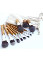 Wholesale Free DHL Professional Make Up Tools Pincel Maquiagem Wood Handle Makeup Cosmetic Eyeshadow Foundation Concealer Brush Set Kit