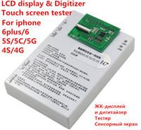 13 probador de la prueba del digitizador de la pantalla táctil del LCD in1 para el iphone 4 4S 55S 5C 6 probador lleno del lcd del sistema 6plus para toda la reparación del modelo del iphone