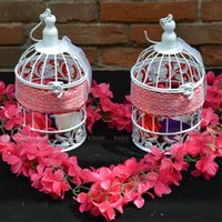 Wholesale Get off of Ivory wedding decoration cells Decorate the cell for the wedding cage metal bird cage flower gift
