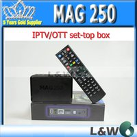 Wholesale linux system MAG250 MAG Stability confirmed by IPTV providers in countries mag iptv box
