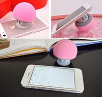 audio kid - 2016 New Arrival Light and Smallest portable Bluetooth Speaker for Kids coloful waterproof wireless mushroom mini Mic suction speaker