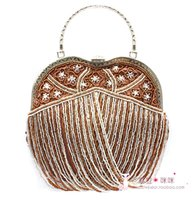 apple clutch bag - Cheap New Apple Style Hand Bags Bride Wedding Party Beading Beaded Crystal Bridal Acessories In Stock Mulity color SHJ
