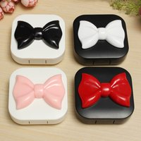 best contact brands - Brand New Square Bowknot Cute Travel Contact Lens Case Eye Care Kit Holder Mirror Box Best Promotion