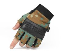 sporting good equipment - THE NEW Outdoor Semi finger Tactical Hunting Good Quality Mountaineering equipment Protective gloves tactical sports Mitten