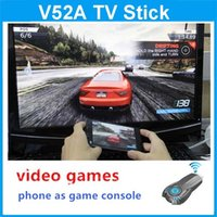 Wholesale 2014 newest video games for android phone as game console to tv screen Multimedia Player by WiFi Display airplay with HDMI
