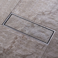 Wholesale Tile Insert Invisible two sided Floor Waste Grates Bathroom Shower Drain x mm