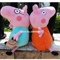 Wholesale 2Pcs Kids Girls CM Plush Peppa Pig Family Toys Keychain CM Daddy Mummy Pig Stuffed Pig Peppa Set CB022531