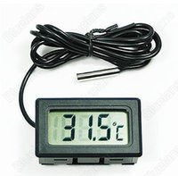 Wholesale New Mini Aquarium LCD Display Digital Thermometer Fish Tank Water Household Refrigerstor Thermometers