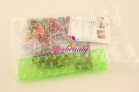 Cheap Set OF 7PCS Rainbow Loom Bands DIY Colorful Bands Bracelet KIT For Family Novelty Free Shipping
