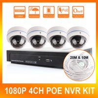 Wholesale 4Ch CCTV MP P Network Security Dome IP Camera Channel NVR System Support POE NVR Kit Home Video Surveillance Realtime Video Record