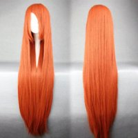 ombre lace front wig - Bleach INOUE ORIHIME Anime Cosplay Jacinth Long Orange Wig For Women cosplay wigs for sale cosplay lace front wig