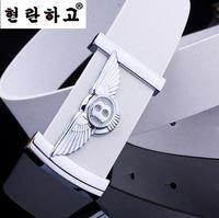 Wholesale designer belts brand mens belts luxury designer belts for men high quality fashion wild smooth buckle black ceinture homme belts for men