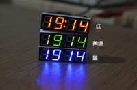Wholesale LED digital electronic clock Car Clock Temperature voltmeter Time thermometer Automotive electronic watch