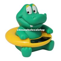 Wholesale Cute Crocodile Baby Infant Bath Tub Thermometer Water Temperature Bathroom Tester Toy