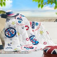 anchor comforter - cotton comforter set Anchor x200cm x230cm Winter amp Spring amp Summer quilt rudder comfortable beautiful