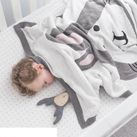 BoyGirls Kids Rest algodón Manta Aire acondicionado Manta Baby Couverture Hecho punto cute animal BlanketsCrib Bed Blanket