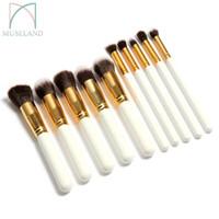 Wholesale 10Pcs Set Professional Makeup Brushes Set Makeup Brush Kit Free Draw String Makeup Bag CV1001