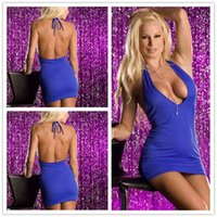 Wholesale Factory direct Sexy Set Supply of blue women s sexy lingerie Prom dress Sexy Underwear N007 Skirt Polyester PET Blue hot