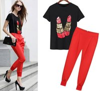 beaded tshirt - ladies harem pant matched beaded tshirt red black trend fashion sizes color option good quality fair price