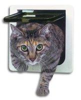 Wholesale New Design High Quality Cat Flap Door White Lockable Hot Sale