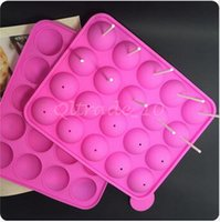 Wholesale 30pcs CCA3218 High Quality Cup Tasty Top Lolly Pop Cake Pops Mould Tasty Top Cake Pop Tray Easy Instant Silicone Baking Mold Cake Pop