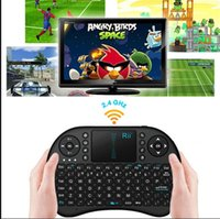 Wholesale 2 G Touch Mini i8 Wireless Bluetooth Keyboard Mouse Combo Touchpad PC Fly Air Mouse chargeable battery USB Cable Charging Black and White