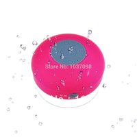 Wholesale 3W Waterproof Wireless Bluetooth Speaker Shower Pool Car Handsfree with Microphone for iPhone iPod Touch Pink BD17P