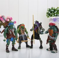Wholesale 4pcs Teenage Mutant Ninja Turtles Classic Collection TMNT Movie PVC Action TV Figures Toy Set Classic