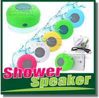 Wholesale Waterproof Speaker Wireless Shower Handsfree Bluetooth Speakers Car Waterproof Portable mini MP3 Super Bass Receive Call Music In BOX
