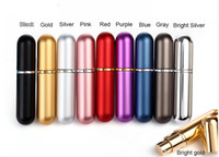 ship spray bottles - Colorful Fashion Refillable Empty Atomizers Travel Perfume Bottles Spray Makeup Aftershave Colorful Metal Bottle ML DHLFree Ship