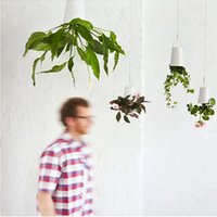 gift basket supplies - LJJG236 Creative Design Sky Planter Plastic Hanging Basket Upside Down Plant Pot Christmas Gift Party Supplies