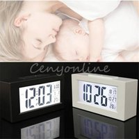 Wholesale New Arrival Multi functian Digital Snooze Alarm Clock Light Thermometer LED Backlight Large LCD Display With Calendar