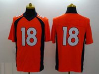 Cheap #18 Quarterback Game Jersey 2014 New Style American Football Jerseys Highest Quality Embroidered Football Team New Jersey Athletic Wear