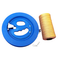 Wholesale Latest Arrival Round Blue Plastic ABS cm Kite Reel Winder with m Line Connector