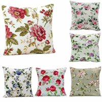 Wholesale European Style Floral Cushion Throw Pillow Cases Home Decoration copri sedie natale Smile