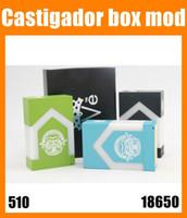 Castigateur Castigador Delrin Mod Parallèle Double 18650 Batterie Modulaire Boîtier Mod 510 Filetage Ajustement 22mm RDA RBA Atomiseurs TZ493
