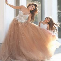 Cheap Mother Daughter Matching Formal Prom Dresses Sweetheart Corset Coral Color Tulle Evening Party Gowns with White Pearls Customize Two Pieces
